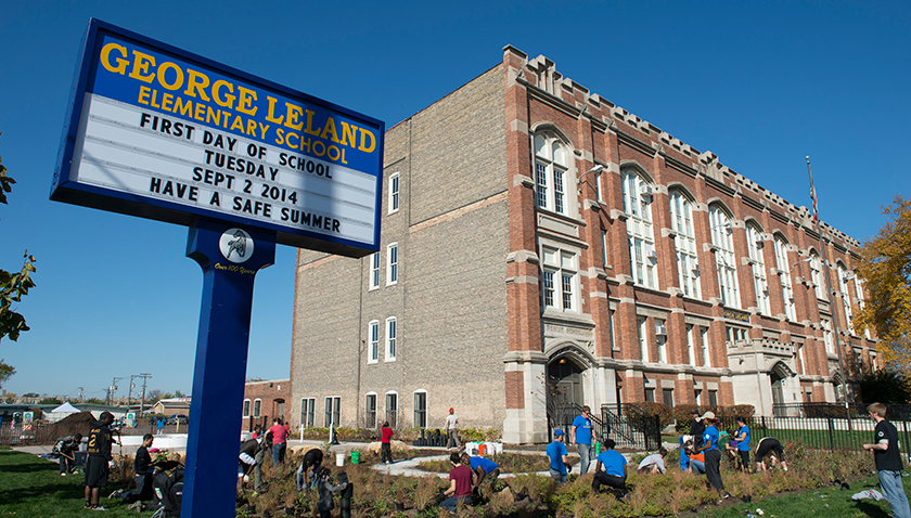 George Leland Elementary School in Austin, Chicago