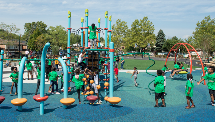 Space to Grow schoolyard ribbon cutting at Davis elementary school in Chicago